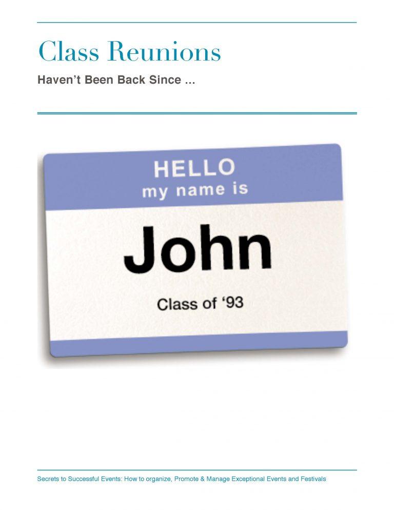 Class Reunion Nametag